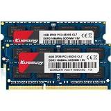 クエスニーノートPC用メモリ1.5V PC3-8500 DDR3 1066MHZ 4GB×2枚204Pin CL7 Non-ECCSO-DIMM 永久保証