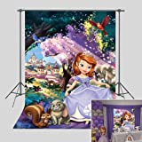 Princess Sofia Photography Backdrop Happy 1st Birthday Party Decorations for Baby Girl Vinyl Fairy Tale Forest Baby Shower Ph