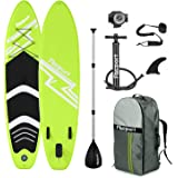 FBSPORT 10'/10.6' Premium Inflatable Stand Up Paddle Board, Yoga Baord with Durable SUP Accessories & Carry Bag | Wide Stance