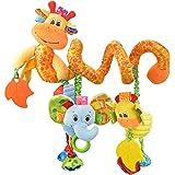 VX-star Baby Pram Crib Ornament Hangings Yellow Cute Little Deer Shape Design Spiral Plush Toys Stroller and Travel Activity