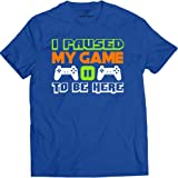 Market Trendz I Paused My Game to Be Here T Shirt Video Game Shirts for Men