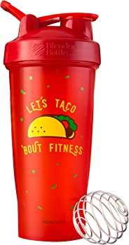 BlenderBottle Just for Fun Classic Shaker Bottle, Let's Taco 'Bout Fitness,28 Ounce