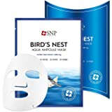 SNP - Bird's Nest Aqua Ampoule Moisturizing Korean Face Sheet Mask - Maximum Hydration & Protection for All Dry Skin Types us