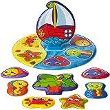 Playgro Floaty Boat Bath Puzzle, Multi,