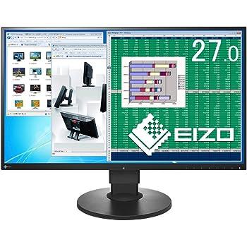 EIZO FlexScan 27.0インチ ディスプレイ モニター (WQHD/IPSパネル/ノングレア/ブラック/5年間保証&無輝点保証) EV2780-BK