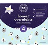 The Honest Company Overnight Sleepy Sheep Diapers, Size 4   Eco-Friendly Bio-Based Core with Sustainably Harvested and Plant-