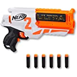 Hasbro E7922 NERF Ultra Two Motorized Blaster- Fast rear Reloading- Includes 6 Ultra Darts- up to 25m- Ultra Darts only- Kids