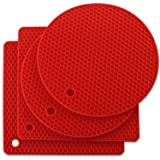 Joyhalo Silicone Trivet Mats Pot Holder Hot Pads Plate Holder Heat Resistant Non-Slip Gripper Pad Garlic Peeler Drying Mat Co