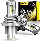 【2020最新 業界初モデル正規品】AUXITO H4 Hi/Lo LEDヘッドライト 車用 3年品質保証 新基準車検対応 高品質LEDチップ搭載 驚異の純正ハロゲンサイズ登場 99%車種対応 高輝度12000LM(6000LM*2) 6500K 12V車対応(ハイブリッド車・EV車対応) 定電流回路搭載 長寿命 高速回転冷却ファン付け 放熱性抜群 静音 瞬間起動 光軸調整フリー 2個入り ホワイト - M3H4
