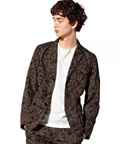 Botanical Liberty Print Work Jacket 3225-139-1902: Brown