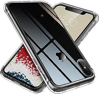 【ONES】 iPhone Xs Max ケース 高透明 米軍MIL規格〔耐衝撃、レンズ保護、滑り止め、軽い、黄ばみなし〕『エアクッション技術、半密閉音室、Qi充電』 クリア カバー Airシリーズ