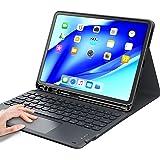 iPad air4キーボードケース タッチパッド付き ipad 10.9/11インチ対応 第1世代/第2世代「Apple Pencil 2ワイヤレス充電対応」Bluetooth キーボードカバー 脱着式 多角度調整 傷つけ防止 耐久性 [ペンシルホル
