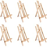 """Ohuhu 14"""" Tall Display Stand A-Frame Mini Wood Painting Easels for Kids Artist Adults Students Classroom Table top Display (1"""