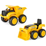 "John Deere 6"" Construction Vehicle Toys 2 Pack; Dump Truck & Tractor with Loader"