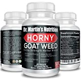 Super Strength 1000mg Horny Goat Weed 120 Capsules with Maca Arginine & Ginseng - Naturally Boost Your Sexual Health, Libido,
