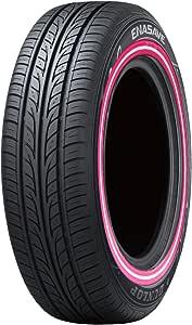 ダンロップ エナセーブ EC203 155/60R15 カスタムプリントピンク白ピンクライン 4本セット