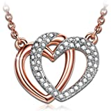 J.NINA Jewelry Gifts for Her with Luxury Gift Packing - Guardian of Love - Rose-Gold Plated Jewelry, Crystals from Swarovski,