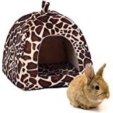 FLAdorepet Rabbit Guinea Pig Hamster House Bed Cute Small Animal Pet Winter Warm Squirrel Hedgehog Chinchilla House Cage Nest