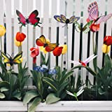 Butterfly Stakes, Garden Butterfly Ornaments, Waterproof Butterfly Decorations for Indoor/Outdoor Yard, Patio Plant Pot, Flow