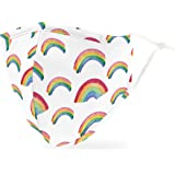 Weddingstar 3-Ply Adult Washable Cloth Face Mask Reusable and Adjustable with Filter Pocket - Rainbow