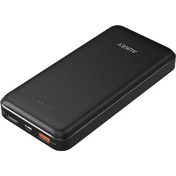 AUKEY モバイルバッテリー 大容量 20000mah Quick Charge 3.0 + USB Type-C入力/出力 急速充電器 Nintendo Switch/iPhone/GALAXY/HUAWEI/Kindleなど対応可能 PB-T17