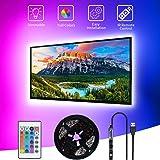SHOPLED TV LED Backlight, 9.8ft USB Powered RGB Strip Lights Kit for 40-60 inch TVs, Monitor Backlight Lighting Kit for HDTV