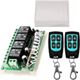 12V Relay Remote Switch Wireless RF Remote Control Switch 4 Channel Relay Module 433Mhz Transmitter Receiver Kit Universal Re