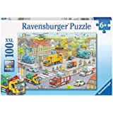 Ravensburger 105588 Vehicles in The City Puzzle 100pc,Children's Puzzles