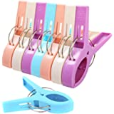 UPMCT Clothes Pins, Beach Towel Clips for Beach Chairs, Fashion Bright Colors Beach Towel Clip Clamps for Outdoor, Indoor (Mu