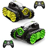 SYMA RC Battle Tanks 2.4GHz Remote Control Military Vehicles Car with Infrared Combat, LED Indicators, 360°Rotating, Lights &