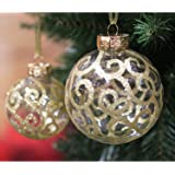 Festive Season Assorted Ripple Christmas Tree Ornament Balls (Set of 12, 60mm)
