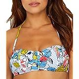 Anne Cole Brigitte Floral Quilted Bandeau Bikini TOP
