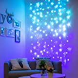 Curtain Lights for Bedroom Wall Light Up Curtains Led String Lights Turquoise Teal Blue Lavender Lilac Purple Twinkle Hanging