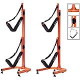 Double Kayak Storage Rack- Self Standing Dual Canoe Kayak Cradle Set with Adjustable Safety Strap System for Outdoor Indoor U