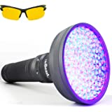 uvBeast VERSION 2 - Black Light UV Flashlight with HIGH DEFINITION 100 LED with Flood Effect 385-395nm UV Best for Commercial