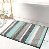 "HEBE Non-Slip Bathroom Rugs Mat Soft Microfiber Bath Mats for Bathroom Absorbent Bath Floor Rug Machine Washable,20""x32"""