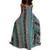 VERWIN Sleeveless Stripe Patchwork Floor-Length Pullover Expansion Women's Maxi Dress Strap Dress Beach Dress