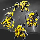 (AssaultSquadYellow) - Mecha Series Fit for Mobile Frame Zero Game- Seller's Designs Fit for Legos Little Robot Set Building