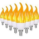 Severino E12 Flame Bulb LED Candelabra Light Bulbs,1.2 Watt Chandelier Bulbs, 3 Mode Christmas Decorations Light Candle Bulbs