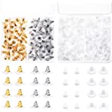 Earing Backs Rubber, Anezus 500pcs Earring Backs Secure Bullet Clutch Safety Earring Backings for Earring Hooks Stud Ear Ring