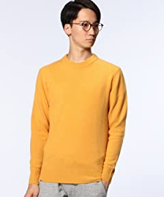 Middle Gauge Wool Crewneck Sweater 1113-199-3451: Yellow