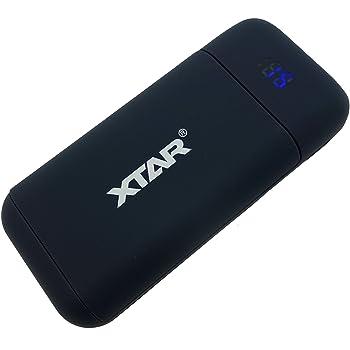 XTAR ポータブル充電器 POWERBANK 18650 USB充電器 ブラック バッテリーなし PB2 オーディオファン