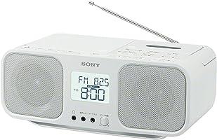 ソニー SONY CDラジオカセットレコーダー CFD-S401 : FM/AM/ワイドFM対応 大型液晶/カラオケ機能搭載 電池駆動可能 ホワイト CFD-S401 W