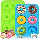 Walfos Silicone Donut Mold - Non-Stick Silicone Doughnut Pan Set, Just Pop Out! Heat Resistant, Make Perfect Donut Cake Biscu