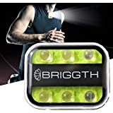 BRIGGTH Clip on Running lights for runners USB C rechargeable - Running light - safety lights for walking at night - dog walk