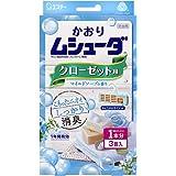 かおりムシューダ 1年間有効 防虫剤 クローゼット用 3個入 マイルドソープの香り