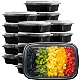 [50 Sets] Meal Prep Containers With Lids, 1 Compartment Lunch Containers, Bento Boxes, Food Storage Containers - 32 oz.