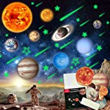 STEM Educational Toys for 3-12 Year Old Boys Girls, Stickers Wall Decor Decals Solar System for Kids, Glow in The Dark Stars