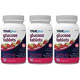 TRUEplus® Glucose Tablets, Raspberry Flavor - 50ct Bottle - 3 Pack