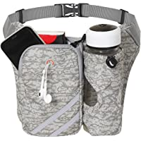【Amazon限定ブランド】 ランニング バッグ ペットボトル ホルダー付き,ジョギング 防水スボーツ用ウェストバッグ…